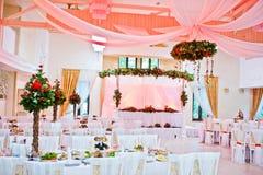 Great wedding table of newlyweds Stock Photography