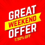 Great weekend special offer banner Royalty Free Stock Photos