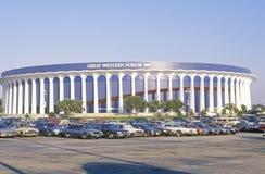 Great Western forum, hem av LAEN Lakers, Inglewood, Kalifornien fotografering för bildbyråer
