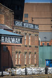 Great Western railway Warehouse. The historic Great Western Railway Warehouse in the dock area of Liverpool, England. The Great Western Railway Warehouse and stock photography