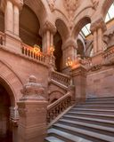 Great Western Staircase in New York State Capitol stock images