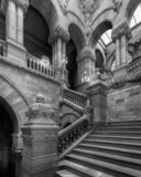 Great Western Staircase in New York State Capitol royalty free stock photo