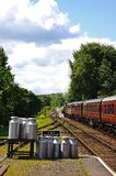 Great Western steam train and carriages, Hampton Loade. Stock Images