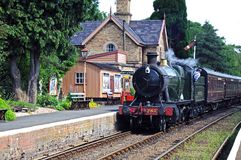 Great Western steam train, Hampton Loade. Royalty Free Stock Image