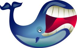 Great whale stock illustration