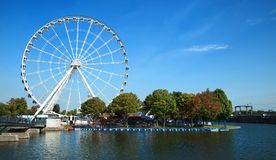 Great wheel of Montreal royalty free stock photography