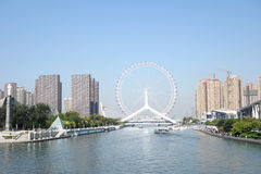 Great wheel on river Royalty Free Stock Photos