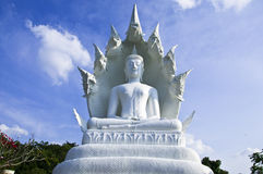 Great White Buddha. Royalty Free Stock Photos