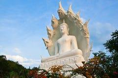 Great White Buddha. Large white Buddha statue at Wat Kiri suban. Lampang Province, Thailand Royalty Free Stock Photo