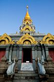 Great white pagoda on the top of hill Stock Photo