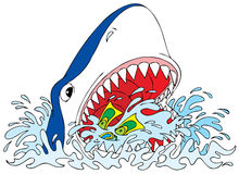 Great White Shark stock illustration