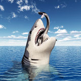 Great White Shark Eating Royalty Free Stock Photo