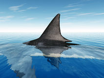 Great White Shark Fin. Computer generated 3D illustration with a Great White Shark Fin Royalty Free Stock Images