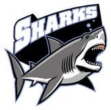 Great white shark mascot Stock Photography