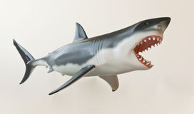 A Great White Shark Model Against White Stock Photography