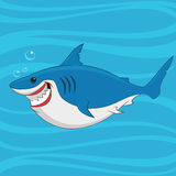 Great white shark. Vector illustration Royalty Free Stock Photos