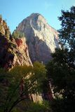 Great White Throne. The Great White Throne in Zions National Park Utah Stock Photos