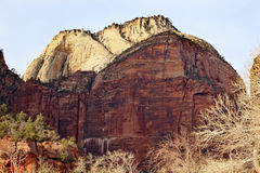 Great White Throne Zion Canyon Utah Royalty Free Stock Images