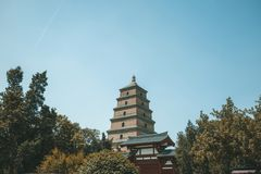 The Great Wild Goose Pagoda stock photography