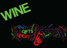 Great Wine Gifts Text Background Word Cloud Concept stock illustration
