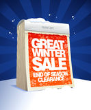 Great winter clearance design in form of calendar. Stock Photography