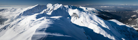 Great winter mountain panorama Stock Image