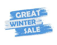 Great winter sale Royalty Free Stock Images