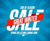 Great winter sale design. Stock Images