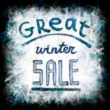 Great winter sale Stock Photo