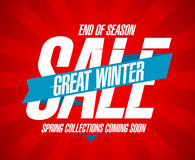 Great winter sale retro design. Stock Photo