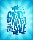 Great winter sale poster. Great winter sale vector poster Stock Images
