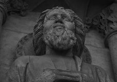 The great wise man on the facade Royalty Free Stock Image