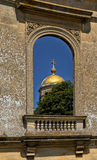 Great Witley Church, Worcestershire, England. The golden dome of Saint Michael and All Angels Church in the parish of Great Witley as seen from within the ruins Stock Photography