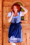 Great woman in Dirndl Stock Images