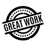 Great Work rubber stamp Stock Image