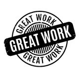 Great Work rubber stamp Stock Images