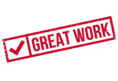 Great Work rubber stamp Royalty Free Stock Photo
