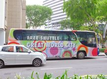 Great world city tour bus Royalty Free Stock Photo