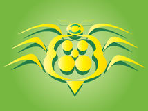 The great yellow bug symbol. Symbol of the yellow bug - the friend of nature; original - freestyle Stock Images