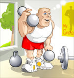 Great young body-builder. Young man want to be a Mr. Perfection. He is active training today Stock Image
