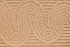 Great zigzag on wavy sand. Concepts and ideas Stock Photo