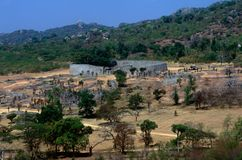 The Great Zimbabwe ruins Royalty Free Stock Images