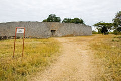 Great Zimbabwe Ruins. Exterior wall of the Great Enclosure Stock Images