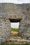 Great Zimbabwe Ruins. Exit of the Great Enclosure Stock Photo