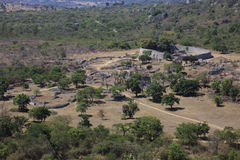Great Zimbabwe ruins. Arial view of the great Zimbabwe ruins Royalty Free Stock Images