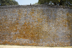 Great Zimbabwe ruins. Details of dry stone walling of the great Zimbabwe ruins Stock Images