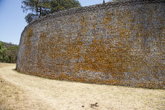 Great Zimbabwe ruins. Details of dry stone walling of the great Zimbabwe ruins Stock Image