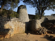 Great Zimbabwe ruins. Part of the great Zimbabwe ruins Royalty Free Stock Photos