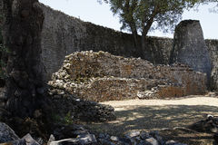 Great Zimbabwe ruins. Part of the great Zimbabwe ruins Stock Image