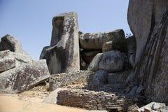 Great Zimbabwe ruins. Part of the great Zimbabwe ruins Royalty Free Stock Images